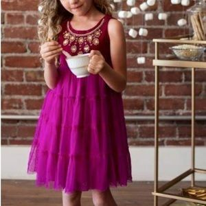 Cupcakes & Pastries Velvet Crystals Tulle Dress